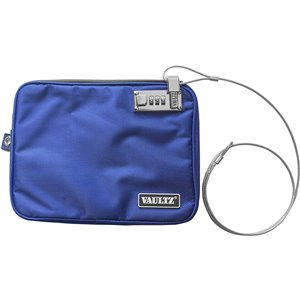 Vaultz Pool Pouch, Medium Commercial/Residential Combination lock Blue Chest Safe