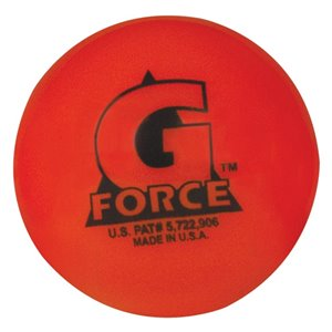 Balle de hockey Mylec G-Force orange, température 60° et plus, paquet de 36