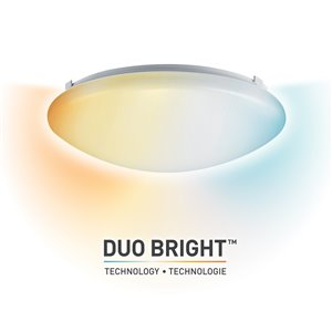 "Globe Electric 11"" Dimmable Integrated LED Flush Mount Ceiling Light with DuoBright Technology"