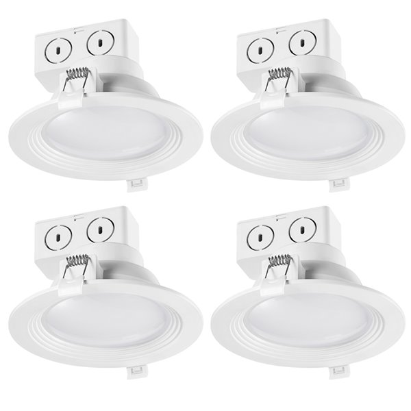 Globe Electric White Wide Angle Integrated LED Recessed Lighting Kit 5-in - Pack of 4
