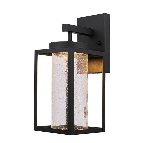 Applique murale intérieur/extérieur Capulet de Globe Electric avec ampoule DEL intégrée en noire
