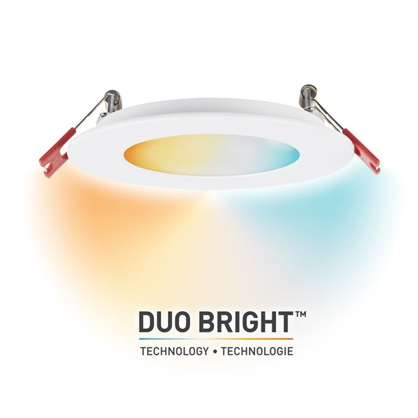 Globe Electric DuoBright Integrated LED Recessed Lighting Kit with Adjustable CCT 4-in