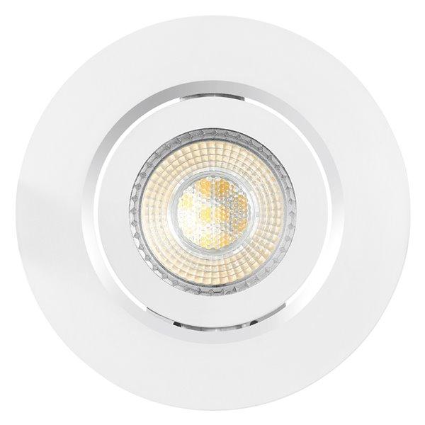 Ensemble d'éclairage Globe Electric encastré ampoule DEL intégrée 3 po, pqt de 4