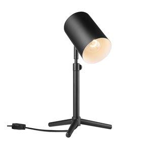 Lampe de bureau à hauteur réglable 18 po de collection Pratt en couleur noir mat