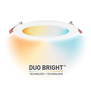Ensemble d'éclairage DuoBright de Globe Electric encastré DEL intégré blanc 6 po