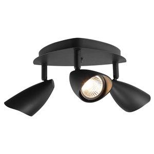 Rail d'éclairage Grayson de Globe Electric à 3 lumières, fini noir mat
