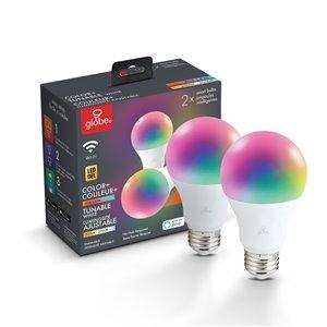 Ampoule Globe Electric DEL 60W équivalent variable de couleur blanc ajustable et changeante