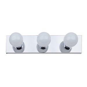 Luminaire de vanité Cameron de Globe Electric à 3 lumières, chrome