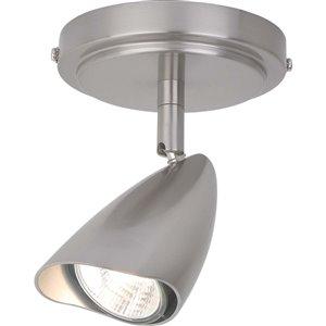 Rail d'éclairage Grayson de Globe Electric à 1 lumière, acier brossé