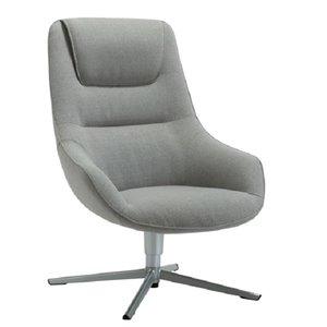 Chaise longue à dossier bas de TygerClaw, gris