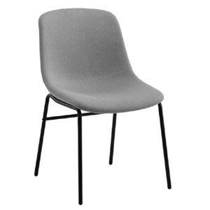 Chaise de salle à manger à dossier moyen de TygerClaw, gris