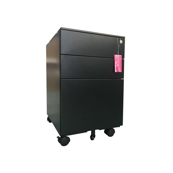 Classeur latéral à 3 tiroirs de TygerClaw, 15,3 po x 23,6 po, noir