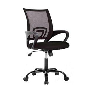 Chaise de bureau à dossier moyen en maille de TygerClaw, noir