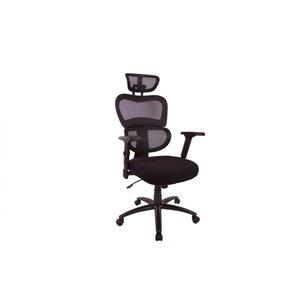 Chaise de bureau à dossier haut en maille de TygerClaw, noir