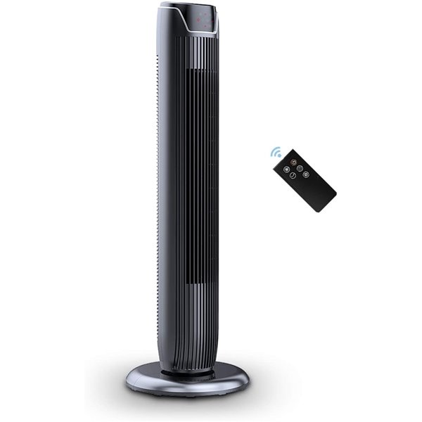 Ecohouzng Oscillating Tower Fan 42 In Black Ct50030gt Rona