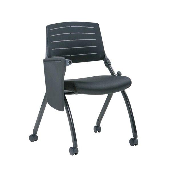 Chaise de classe à dossier bas de TygerClaw, noir