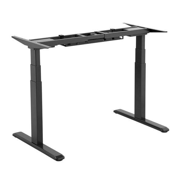 TygerClaw Dual Electric Motor Sit-Stand Desk - 39.4-in x 24.4-in - Black