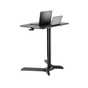 Poste de travail assis-debout de TygerClaw, 28 po x 42,9 po, noir