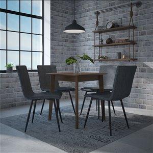 Ens. de salle à manger moderne de mi-siecle avec table en noyer de Worldwide Homefurnishings, bleu, 5 pièces