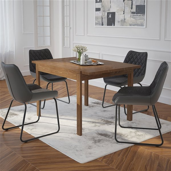 Ens. de salle à manger moderne de mi-siecle avec table de Worldwide Homefurnishings , 5 pièces