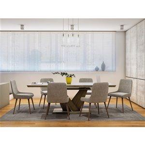 Ensemble de salle à manger moderne rustique avec table en chêne de Worldwide Homefurnishings, gris/argent, 7 pièces