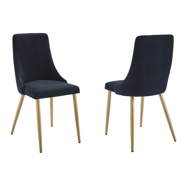 Ens. de salle à manger contemporain avec table blanche de Worldwide Homefurnishings, noir, 5 pièces