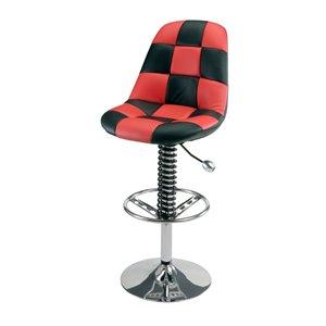 Chaise de bar Pitstop Pit Crew, rouge, 19,5 po x 32,5 po x 46,5 po