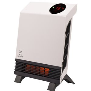 Heat Storm 1000-Watt Infrared Cabinet Electric Space Heater with Remote Included