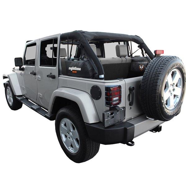Sac de rangement latéral Rightline Gear noir pour Jeep Wrangler JK, 20 po x 6 po x 10 po