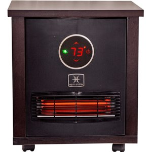 Heat Storm Logan Portable Infrared Quartz Heater - Remote Control and Built in Thermostat
