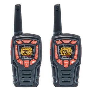 Radios bidirectionnelles/émetteurs-récepteurs Cobra Adventure Series, 45 km, 22 canaux, 2 mcx