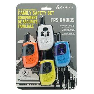 Radio bidirectionnelle/émetteur-récepteur Cobra Family, 12 km, 4/pqt
