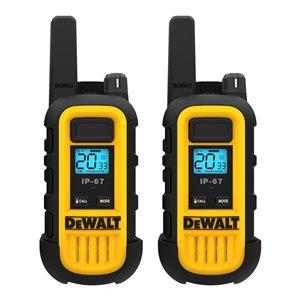 Radios bidirectionnelles DeWalt, 250 000 pi², 2/pqt