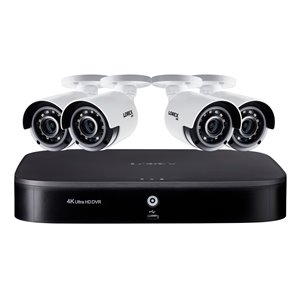 Lorex 4K Ultra HD 8 Channel 2TB DVR Security System 4 x Outdoor Security Cameras