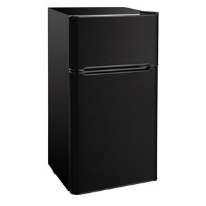 RCA 4.5 cu ft Freestanding 2-Door Refrigerator with Freezer Compartment - Black Stainless Steel
