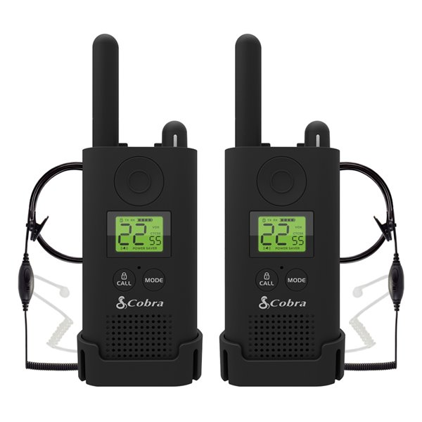 Cobra MicroTALK 22-Channel FRS/GMRS 2-Way Radios with Headsets - 37 Km - 2-Pk