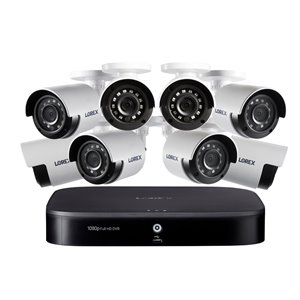 Lorex 1080p 8 Channel 1TB DVR Security System 8 x Outdoor Security Cameras