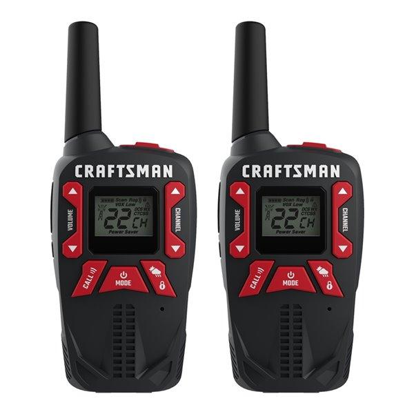 Radios bidirectionnelles rechargeables Craftsman, 40 km, 2/pqt