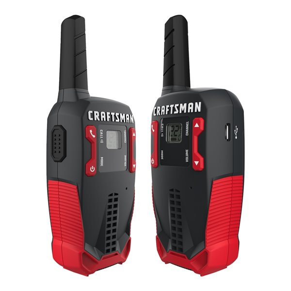 Radios bidirectionnelles rechargeables Craftsman, 25 km, 2/pqt