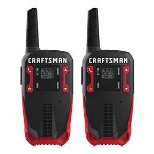 Craftsman Rechargeable Two-Way Radio - 25 km - 2-Pk
