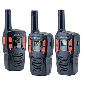 Cobra MicroTALK 22-Channel FRS/GMRS 2-Way Radio/Walkie Talkie - 25 Km - 3-Pcs