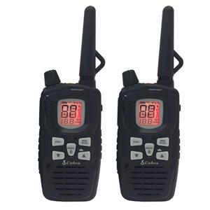 Radio bidirectionnelle/émetteur-récepteur Cobra MicroTALK FRS/GMRS, 65 km, 22 canaux, 2 mcx