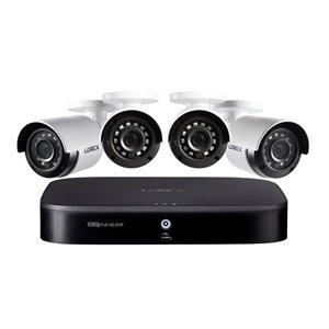Lorex 1080p 8 Channel 1TB  DVR Security System 4 x Outdoor Security Cameras