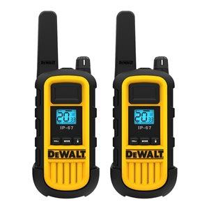 Radios bidirectionnelles DeWalt, 300 000 pi², 2/pqt