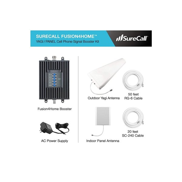 Amplificateur signal cellulaire Fusion4Home3 Yagi SureCall, 4 000 pi²