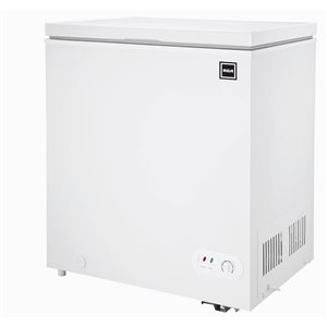 Congélateur horizontale RCA compact, 5,1 pi³, certifié Energy Star, blanc