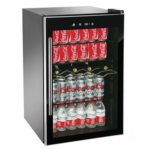 RCA Beverage Cooler - 110 Cans and 4 Wine Bottles - Black