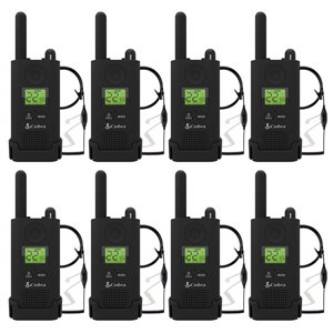 Cobra MicroTALK 22-Channel FRS/GMRS 2-Way Radios with Headsets - 37 Km - 8-Pack