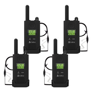 Cobra MicroTALK 22-Channel FRS/GMRS 2-Way Radios with Headsets - 37 Km - 4-Pk