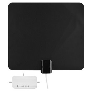 RCA ANT3ME Amplified Multi-Directional Ultra-Thin HDTV Indoor Antenna w/ Signal Meter